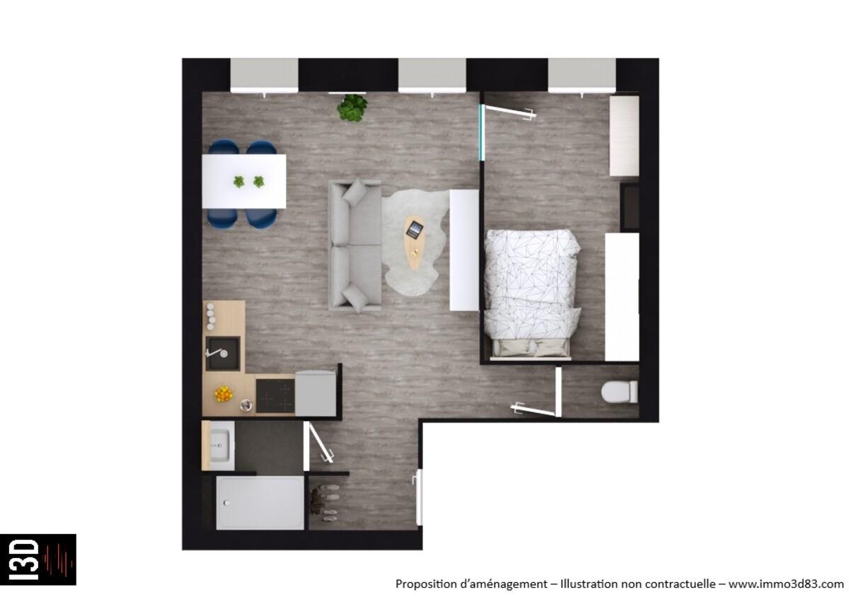 Appartement rénové - Marseille 5ème